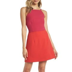 French Connection Whisper Light Color Block Dress